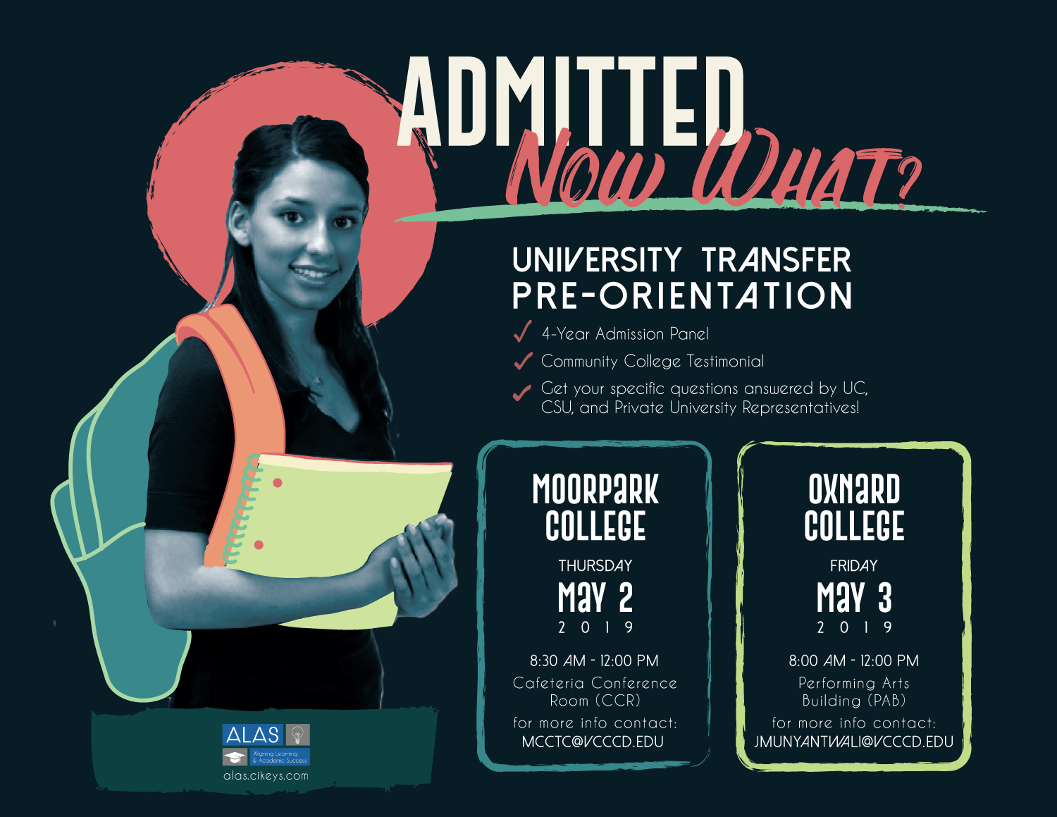"""Admitted: Now What?"" Flyer"