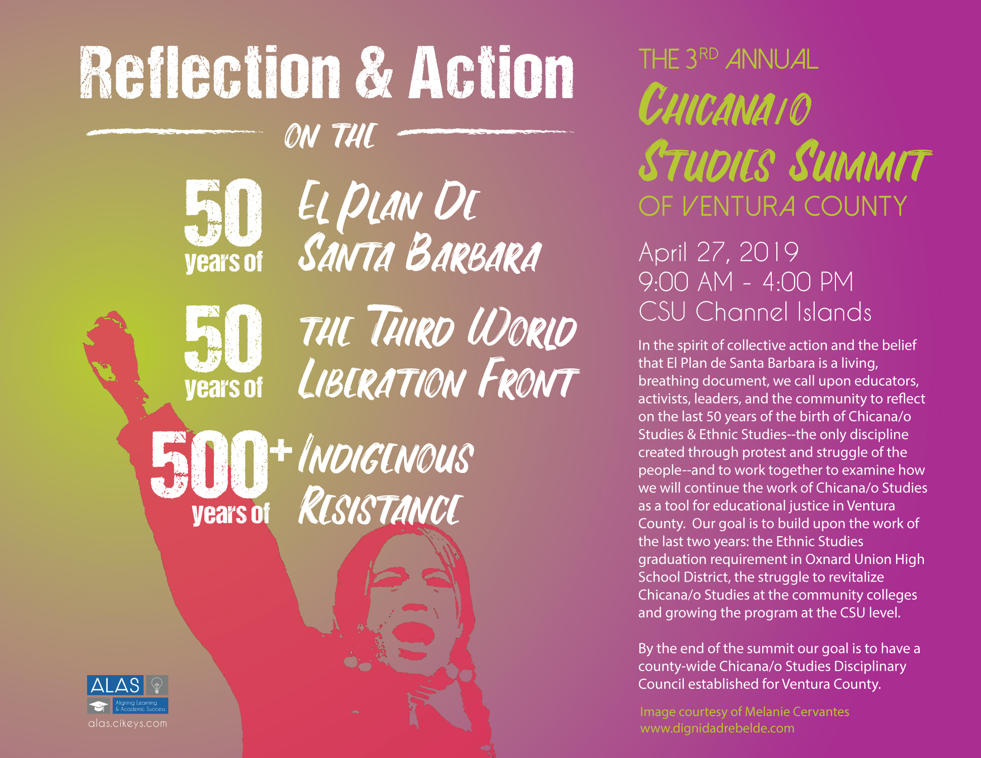 2019 Chicana/o Studies Summit Flyer