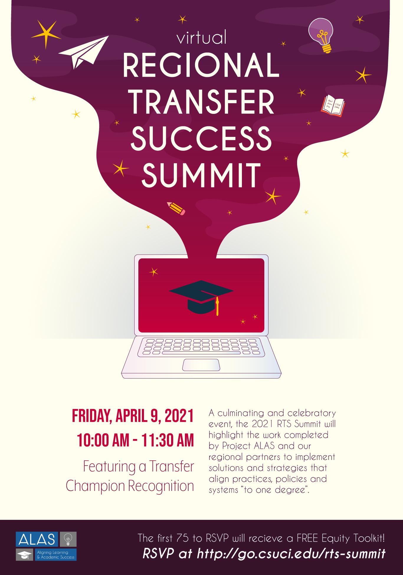 2020 Regional Transfer Success Summit Flyer